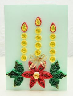 candle model quilling greeting card designs for christmas 2015 - quillingpaperdesigns