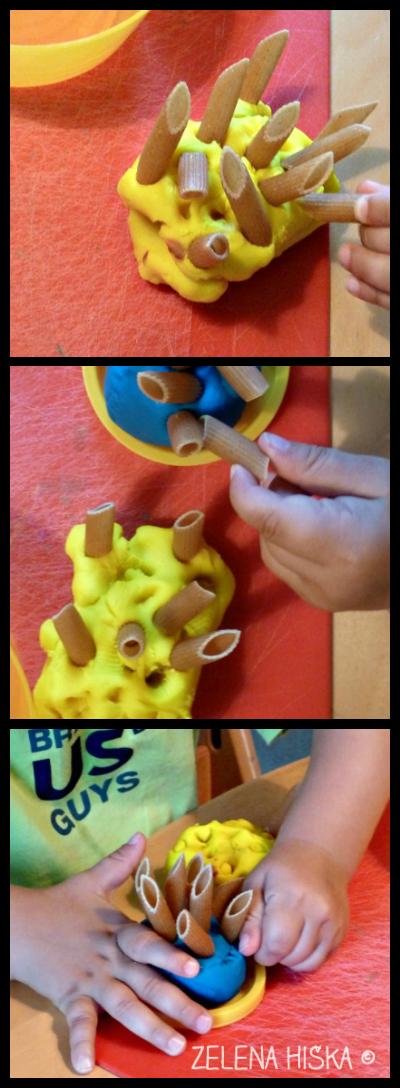 otroška igra - plastelin in testenine