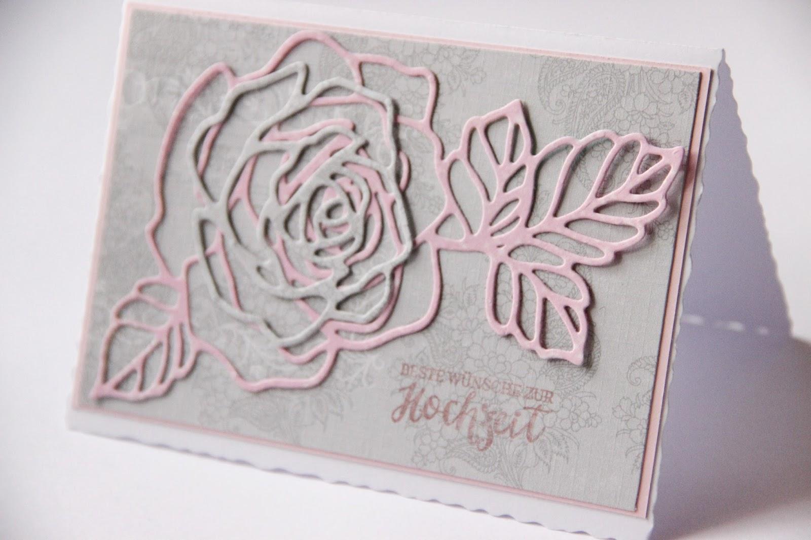 Papierliebe Rosen zur Hochzeit