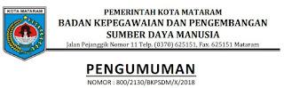 Jadwal Tes Seleksi Kompetensi Dasar (SKD) Kota Mataram