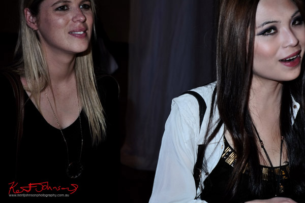 Portrait of two young women at The Social Party at Pelicano David Jones for VFNO