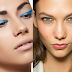 Back to the 80's: blue eyemake up