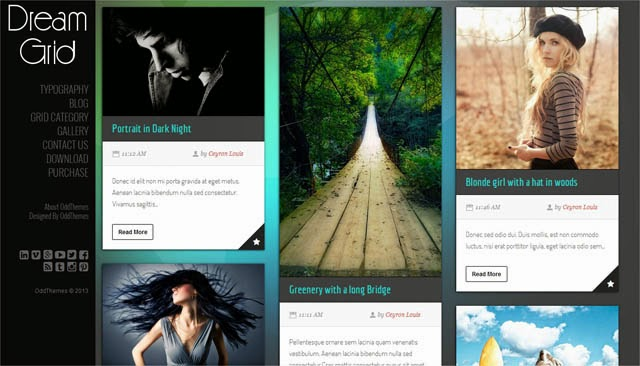 Dream Grid Responsive Blogger Template