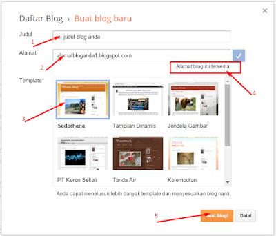 cara mendaftar blog di blogspot