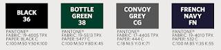 Colores disponibles: Negro, Verde Botella, Gris convoy y Azul marino francés