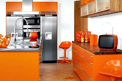 Desain interior kitchen set warna stabilo