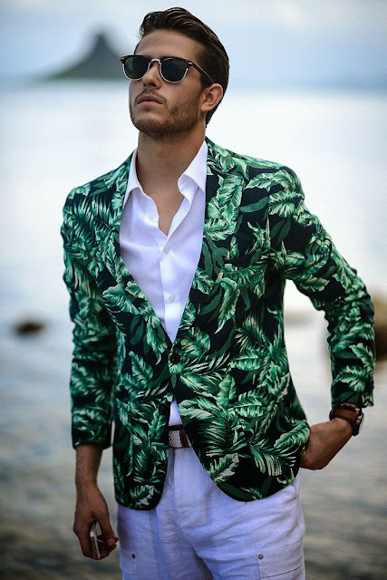 estampado tropical, blogger, fashion menswear, tendencia masculina, look inspiración, adam gallagher