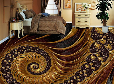 3D floor designs with epoxy painting for bedrooms