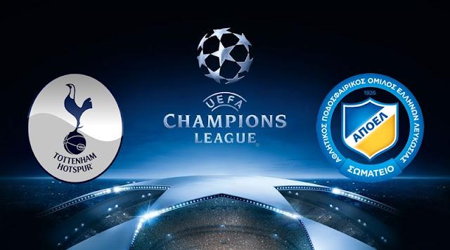 Prediksi Pertandingan Tottenham Hotspur vs APOEL Nicosia