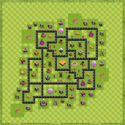 War Base Town Hall Level 8 By duke96 (#2 TH 8 Layout)