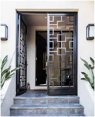 model pintu utama minimalis besi