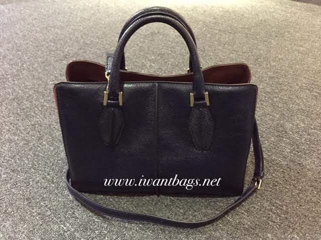 16ad0b3093f7 I Want Bags backup: Tod's D-cube Two-tone Mini Shopping Bag-Blue/Brown
