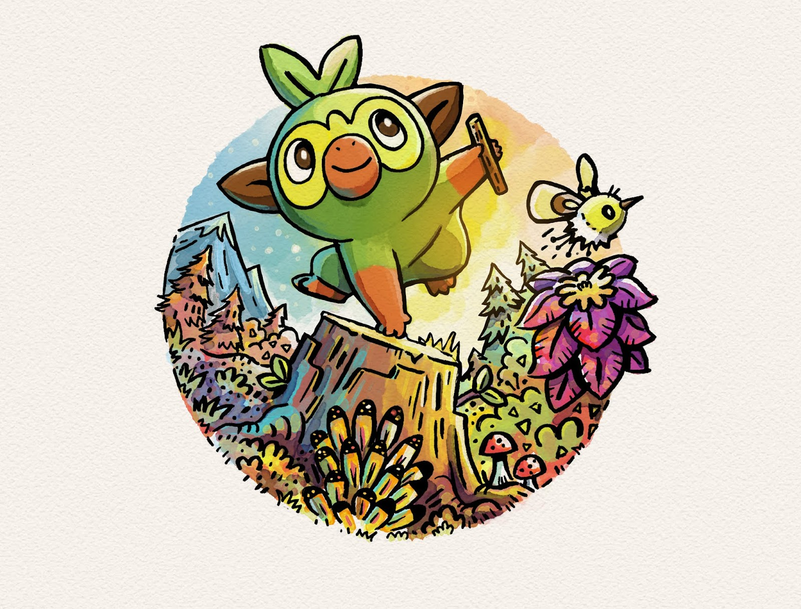 Grookey Pokemon Sword Shield Grookey is the pokemon whish has one type (grass) from the 8 generation. grookey pokemon sword shield