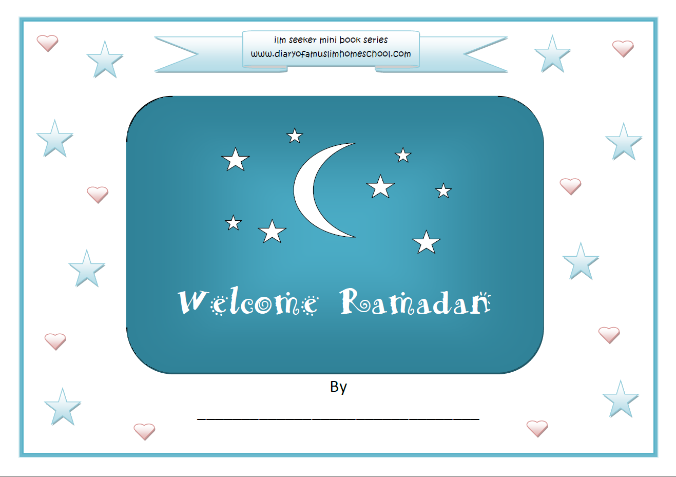 A Muslim Homeschool Welcome Ramadan Colouring Work Book