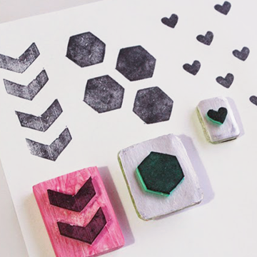 DIY Upcycled and Recycled Stamps