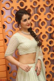 Raashi Khanan looks stunning in Crop Top Deep neck Choli Ghagra Transparent Chunni WOW ~  Exclusive Celebrities Galleries 035.JPG