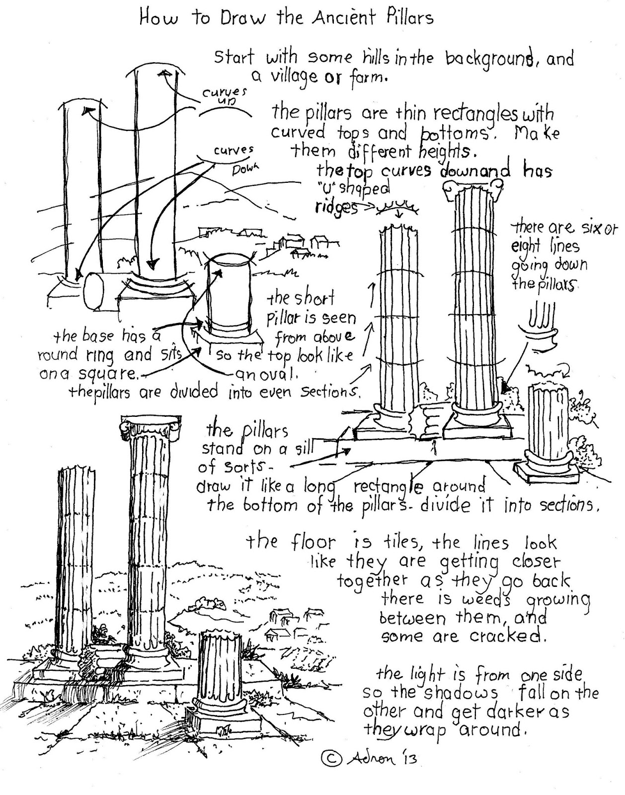 worksheet Ancient Rome Worksheets how to draw worksheets for the young artist ancient roman pillars worksheet