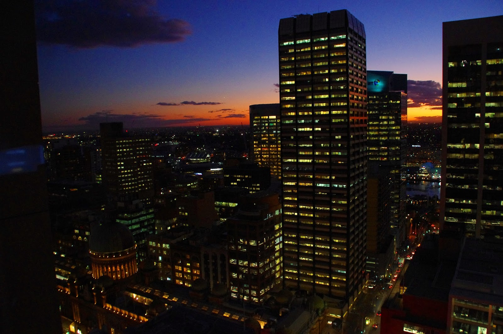 Sunset over Sydney skyline