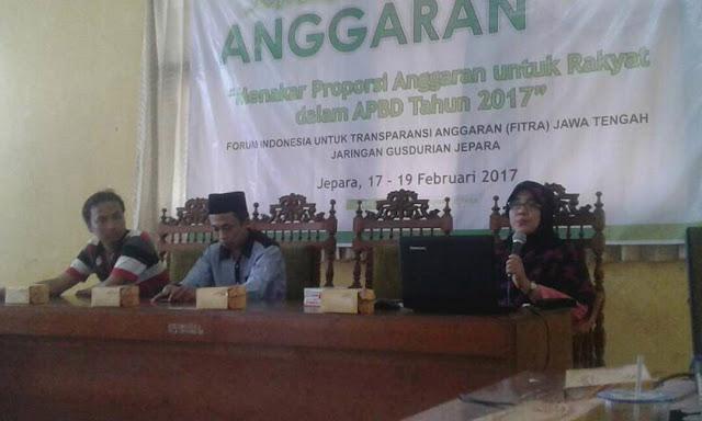 Sekolah anggaran yang diadakan Fitra Jateng dan Gusdurian Jepara