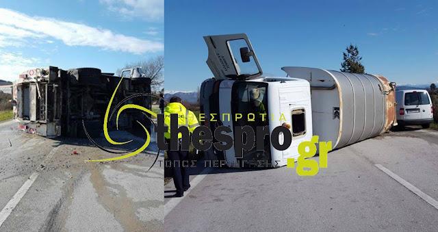 Τροχαίο ατύχημα, ντελαπάρισε απορριμματοφόρο (+ΦΩΤΟ)