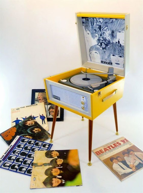Collection of Beatles Vinyl and retro record player. Jingles and other stories of American Dreams. marchmatron.com
