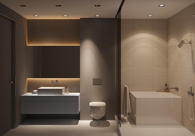 Mẫu phòng tắm đẹp với tông màu ấm