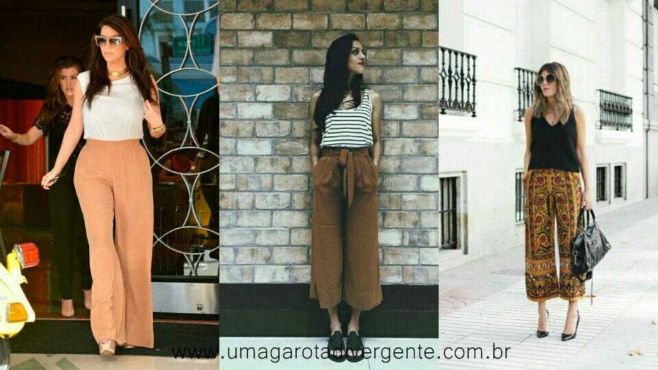 Inspirações de looks com Pantalona Curta/Longa