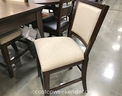 Pulaski Counter Height Dining Set features 8 comfortable chairs