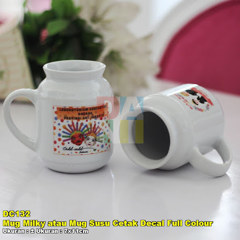 Mug Milky atau Mug Susu Cetak Decal Full Colour