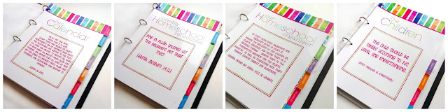 homeschool planner sections with Islamic Quotes