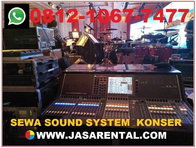 Harga sewa sound system konser
