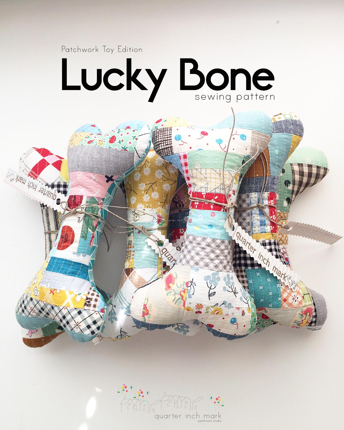 Lucky Bone Patchwork Toy Sewing Pattern