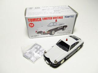 Tomica Limited Vintage LV-85a 1968 Porsche 912 Kanagawa Prefecture Patrol Car