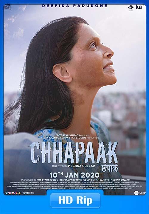 Chhapaak 2020 WebRip Hindi 720p ESub x264 | 480p 300MB | 100MB HEVC