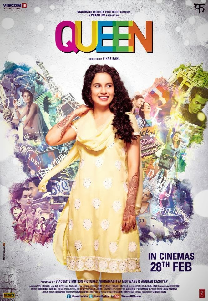 Kangana Ranaut in official poster of Bollywood movie Queen
