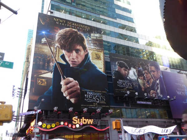 Fantastic Beasts and Where to Find Them billboard NYC