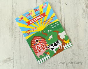 Farmyard Animal Invitation
