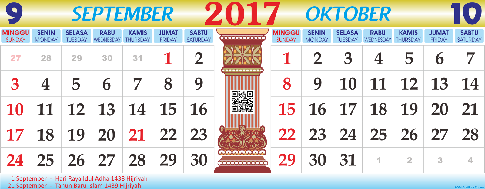 vector for free kalender 2017 september oktober. Black Bedroom Furniture Sets. Home Design Ideas