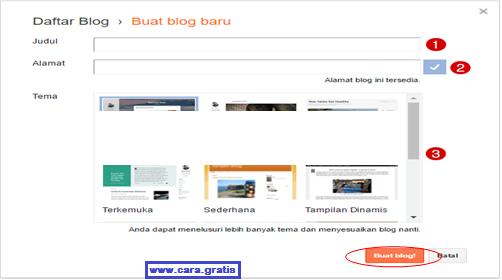 Buat Blog Google