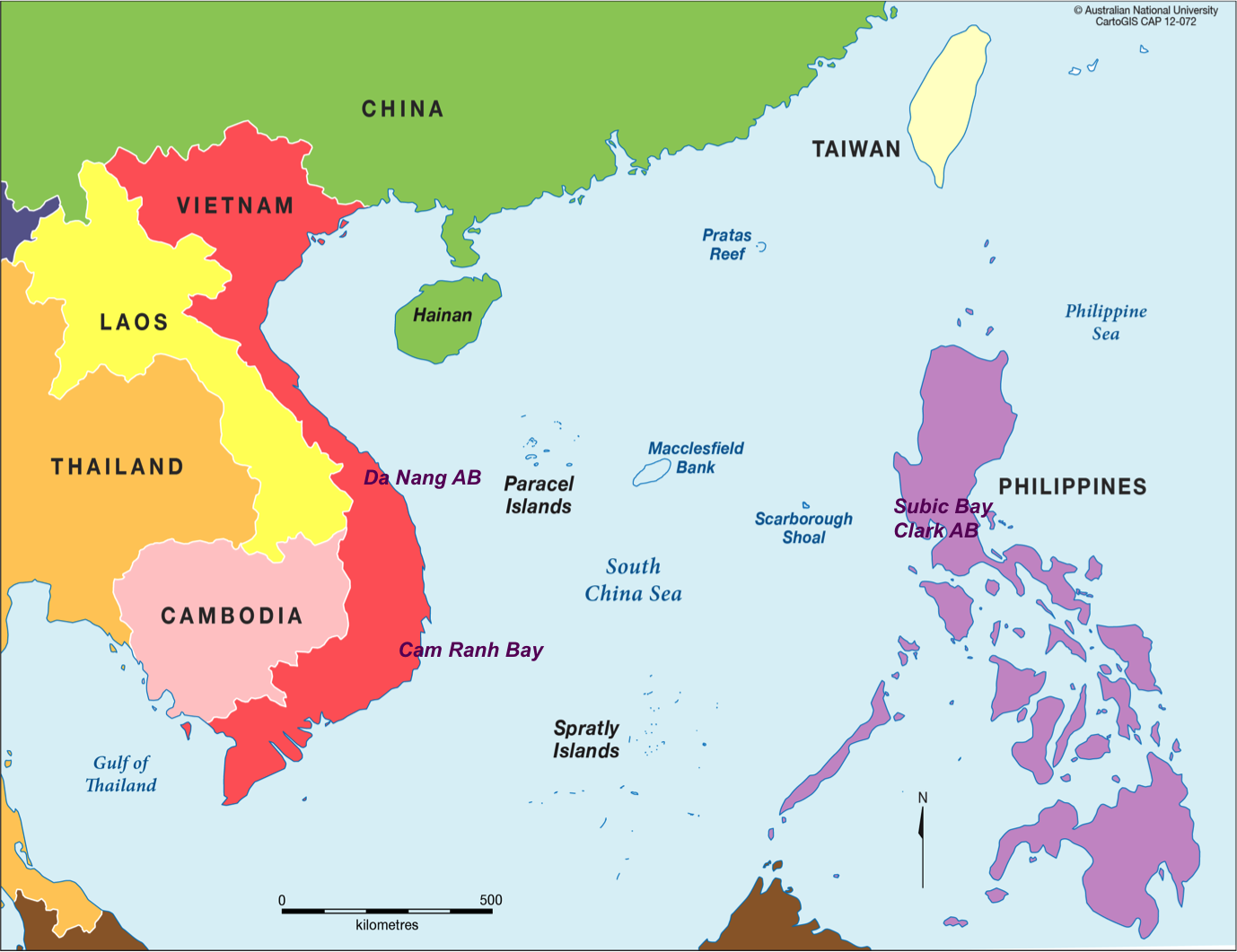 map a note subic bay is on luzon the large northern island of the philippines