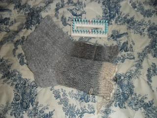 chaussettes au tricotin géant Martha Stewart