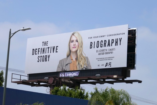 Biography Elizabeth Smart 2018 Emmy FYC billboard