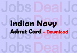 Indian Navy SSR Admit Card 2017
