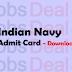 Indian Navy SSR Admit Card 2017 – Sailor/MR/NMR-02/2017/AA-142 Batch
