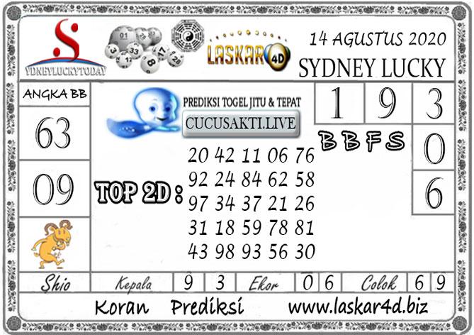 Prediksi Sydney Lucky Today LASKAR4D 14 AGUSTUS 2020