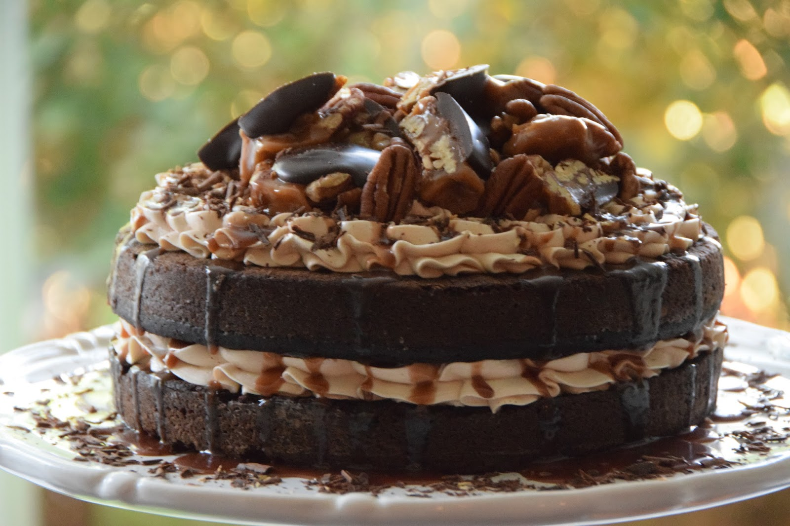 Easy Homemade Chocolate Turtle Cake: Fueling With Flavour: Chocolate Turtle Cake (Project 150721