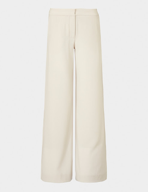 wide leg trousers in summer colour