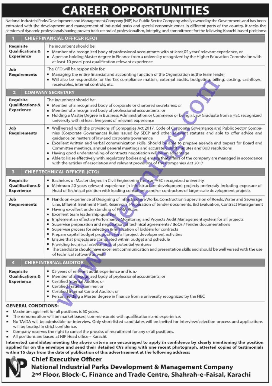 Job in National Industrial Park Development and Management Company
