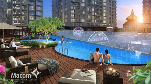 Bể bơi vô cực với thiết kế sang trọng