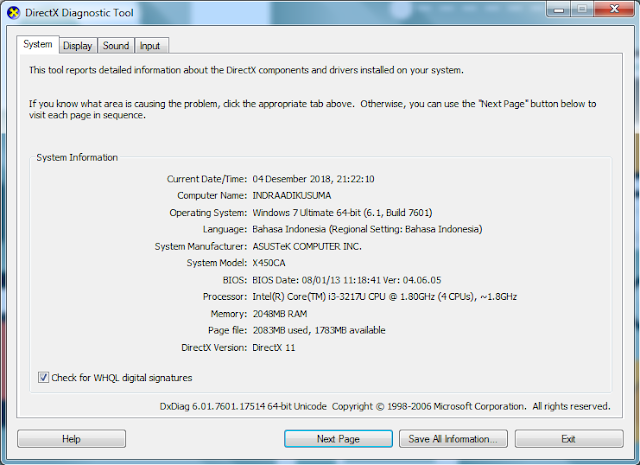 "alt=""cara melihat spesifikasi laptop windows"""